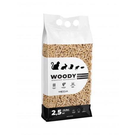 Древесный наполнитель для домашних животных WOODY, 3 кг - Разное - ₴16.50