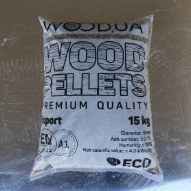 ENplus A1 Pine Wood Pellets, 6 mm, 15 kg, 1 tonne Pellets 3,900.00