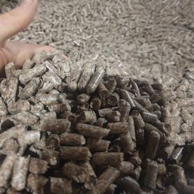 Пеллета древесная А2, 8мм, сосна, биг-бэг, 1 тонна - Пеллеты - 2,600.00