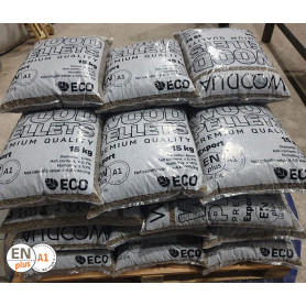 ENplus A1 Pine Wood Pellets, 6 mm, 15 kg, 1 tonne Pellets 4,400.00