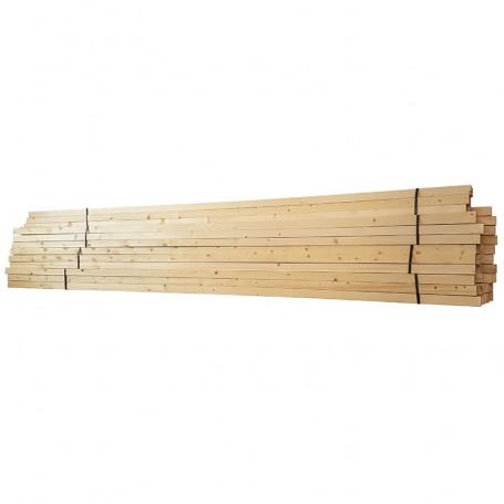 Доска обрезная сухая (16-18%) сосна 4 метровая, 1 м3 - Доска обрезная сухая - 7,200.00