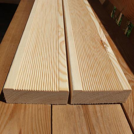 Террасная доска сосна вельвет, 35х115 мм, длина 1.7 - 6.0м, сорт 1, 2 - м2 - Террасная, палубная доска - ₴260.00